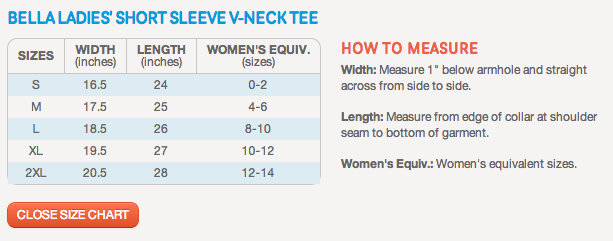 v-neck-size-chart