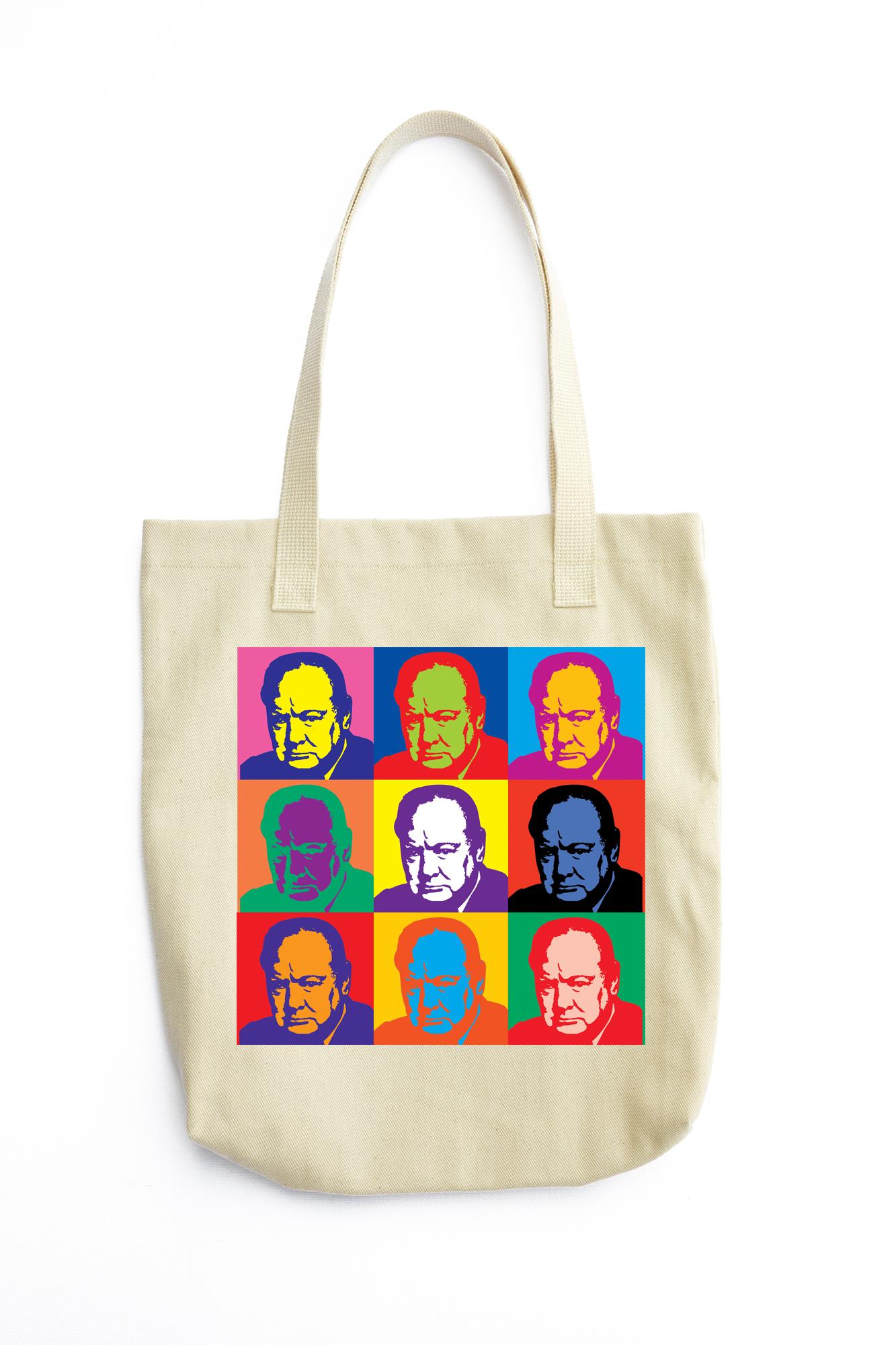 Churchill Warhol Tote Bag