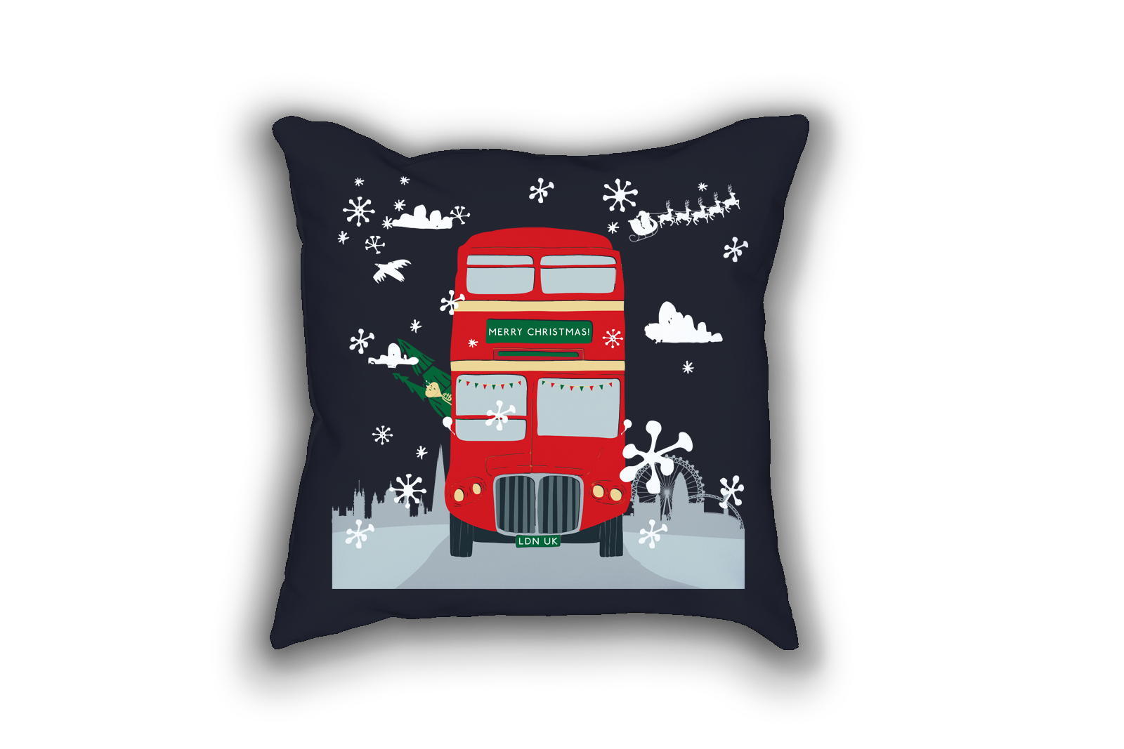 Amazon Com Christmas Pillow Beach Needlepoint Pillow