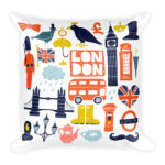 London Autumn – Square Pillow