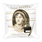 Jane Austen – Square Pillow