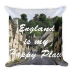 England is My Happy Place – Square Pillow