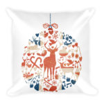 British Christmas Bauble – Square Pillow
