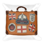 Let's Go To England! Square Pillow