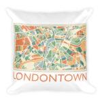 Londontown Map – Square Pillow
